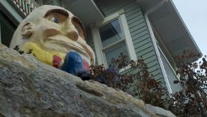Humpty Dumpty overlooks downtown Eureka Springs