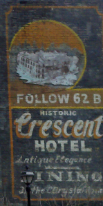 Eureka Springs Crescent Hotel ghost sign