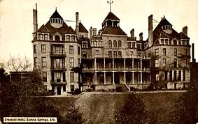 Historic photo of the 1886 Crescent Hotel, also known as America's Most Haunted Hotel.