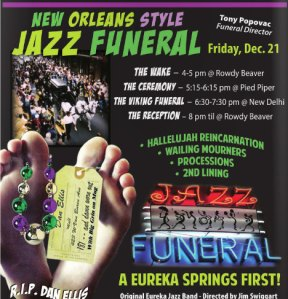 eureka springs jazz funeral end of the world 2012