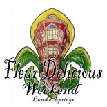 fleur delicious weekend eureka springs poster