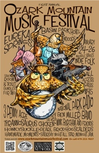 ozark mountain music festival poster