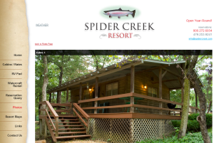 spider creek resort eureka springs beaver lake