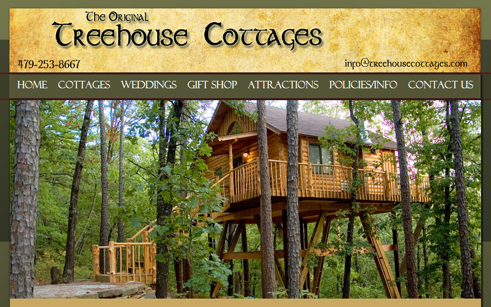 Genial Here Are Some Popular Destinations: Treehouse Cottages Eureka Springs