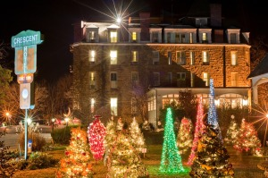crescent hotel christmas forest